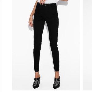 Express Black MidRise Skinny Jeans